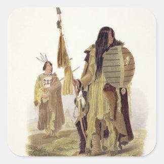 Les Indiens d'Assiniboin, plaquent 32 du volume 2 Sticker Carré