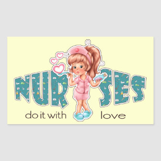 Les infirmières le font avec amour. Autocollants