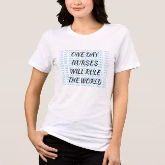 Les infirmières ordonneront le T-shirt du monde