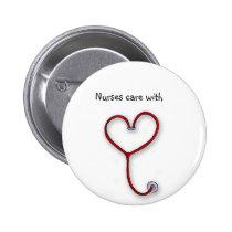 Les infirmières s'inquiètent avec le coeur - cadea pin's