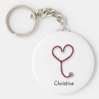 Les infirmières s'inquiètent avec le coeur - cadea porte-clefs