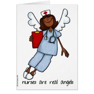 les infirmières sont de vrais anges carte de vœux