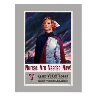 Les infirmières sont nécessaire maintenant - carte postale