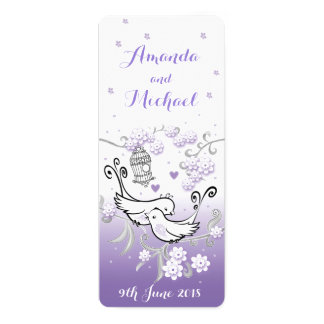 Les inséparables en pastel ont personnalisé carton d'invitation  10,16 cm x 23,49 cm