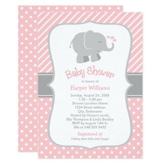 Les invitations de baby shower d'éléphant |