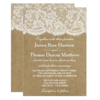 Les invitations de collection de mariage de Papier