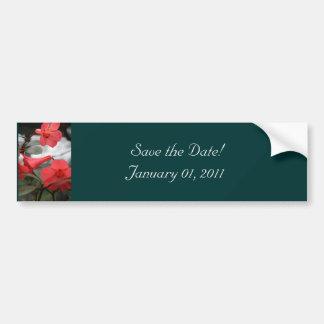 Les invitations de mariage, font gagner la date ! autocollant pour voiture