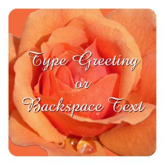 Les invitations roses personnalisent l'orange se