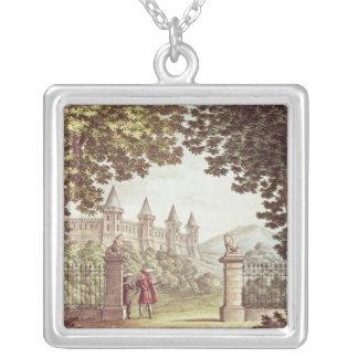 Les jardins du château de Windsor Pendentif Carré
