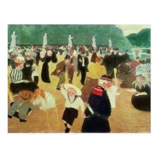 Les jardins du luxembourgeois, 1895 carte postale