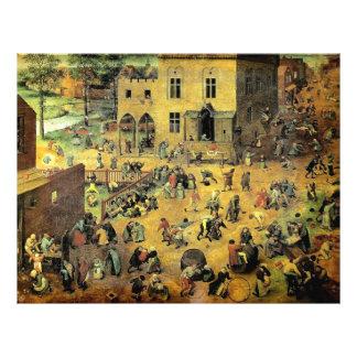 """Les """"jeux des enfants"""" de Pieter Bruegel - 1560 Prospectus Avec Motif"""