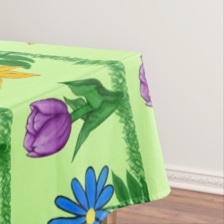 Les jolies fleurs ont modelé la nappe