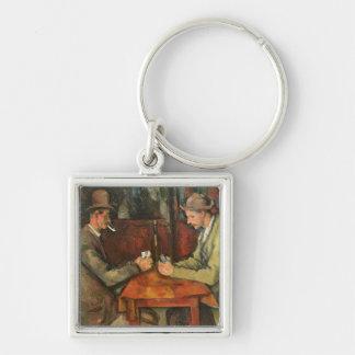 Les joueurs de carte, 1893-96 porte-clé carré argenté