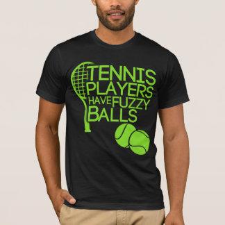 Les joueurs de tennis ont les boules brouillées t-shirt