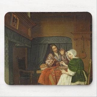 Les joueurs d'échecs, c.1670 tapis de souris