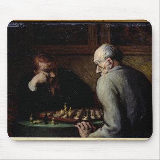 Les joueurs d'échecs, c.1863-67 tapis de souris