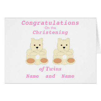 Les jumeaux de baptême de félicitations ajoutent l