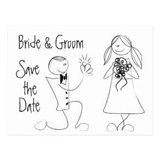 Les KRW sauvent la carte de mariage faite sur Carte Postale
