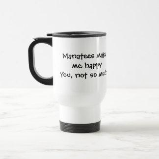 Les lamantins me font la tasse heureuse de voyage