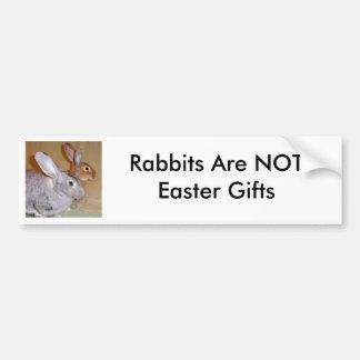 Les lapins ne sont pas des cadeaux de Pâques Autocollant De Voiture