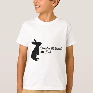 Les lapins sont des amis, pas nourriture ! t-shirt