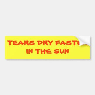 Les larmes sèchent plus rapidement au soleil autocollant pour voiture