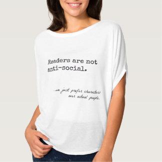 Les lecteurs ne sont pas antisociaux : T-shirt