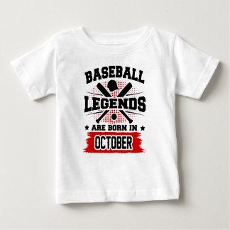 les légendes de base-ball sont nées en octobre t-shirt pour bébé