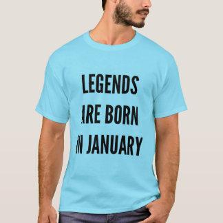 Les légendes de cadeau d'anniversaire sont nées en t-shirt