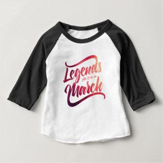 les légendes sont nées dans b-03-03 t-shirt pour bébé