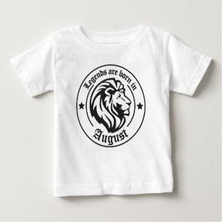 Les légendes sont nées en août t-shirt pour bébé