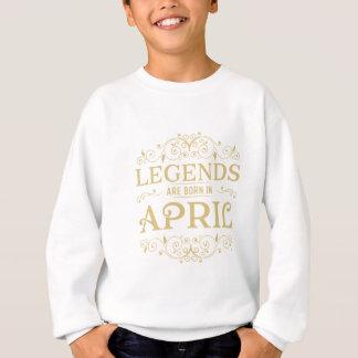 les légendes sont nées en avril sweatshirt