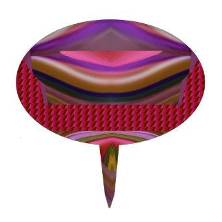 Les lèvres de tornade de langue lèchent l'art piques à gâteau