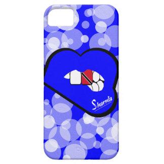 Les lèvres Trinidad de Sharnia et le cas Lp bleu Coque iPhone 5 Case-Mate