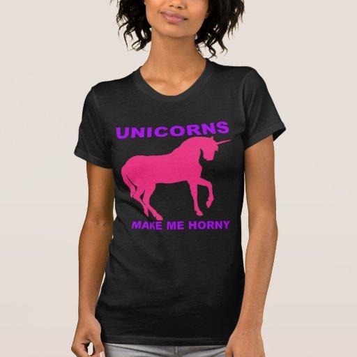 les licornes me rendent corné t-shirts