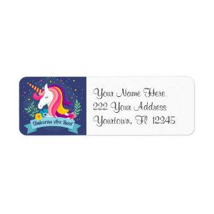 Les licornes sont de vrais étiquettes de adresse
