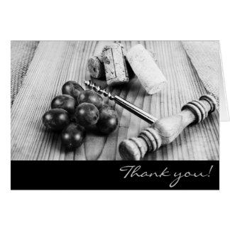Les lièges de bouteille de vin vous remercient carte de vœux