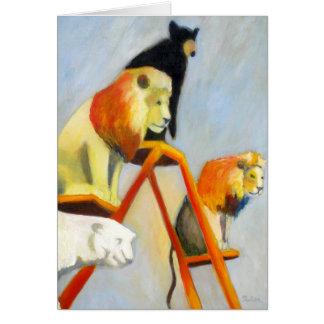 Les lions n de cirque soutient la carte