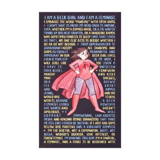 Les litanies de la fille de geek pour le féminisme impressions sur toile