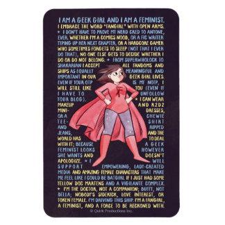 Les litanies de la fille de geek pour le féminisme magnets en vinyle