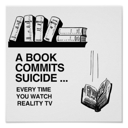 LES LIVRES COMMETTENT LE SUICIDE AFFICHE