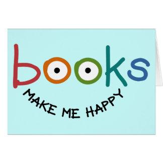 Les livres me rendent heureux cartes de vœux