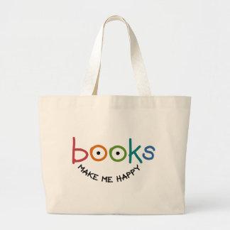 Les livres me rendent heureux sac en toile jumbo