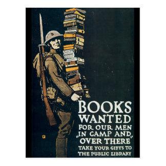 Les livres ont voulu la deuxième guerre mondiale carte postale