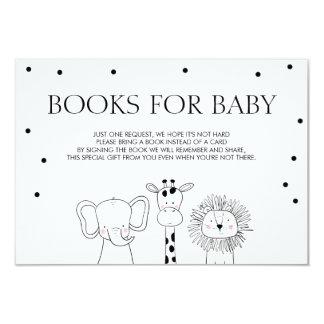 Les livres pour le bébé apportent à des animaux carton d'invitation 8,89 cm x 12,70 cm