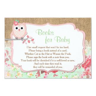Les livres pour le bébé, apportent une insertion carton d'invitation 8,89 cm x 12,70 cm