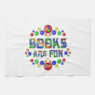 Les livres sont amusement serviette éponge