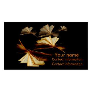Les livres vous donnent des ailes cartes de visite personnelles