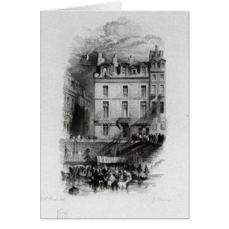 Les logements du napoléon sur le Quai Conti, Carte De Vœux