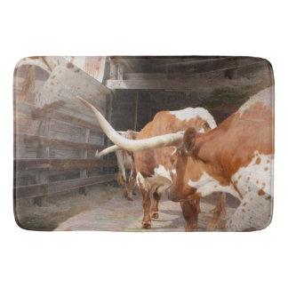 Les Longhorns du vacher Tapis De Bain